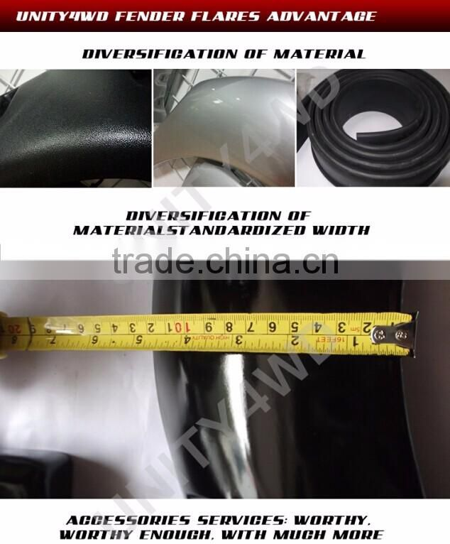 Hot sell 4x4 accessories wheel arch fender falre for pick up