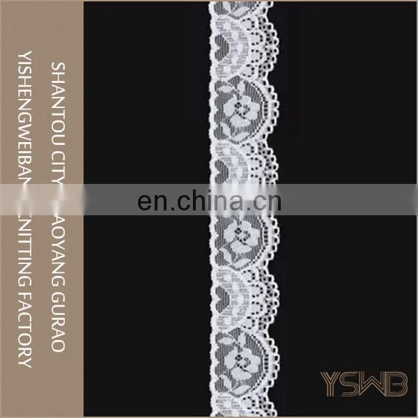 3.5cm small fashion knitted white stretch lace neck trim