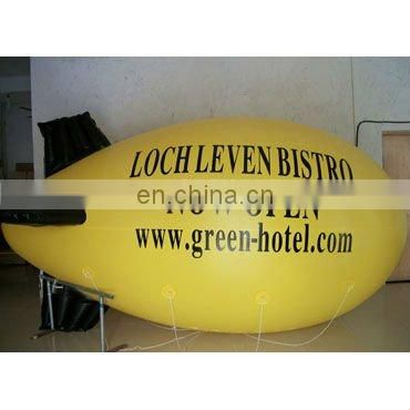 yellow inflatable helium blimp Airship (cube or balloon) for advertising use with customized logos