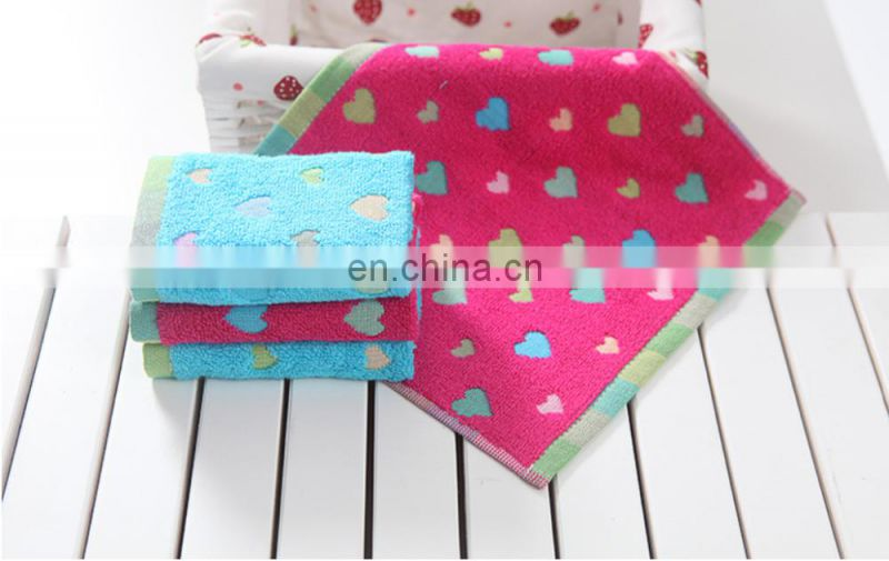 Wholesale Factory Price Jacquard Yarn Dyed 100% Cotton Hand Towel For Baby