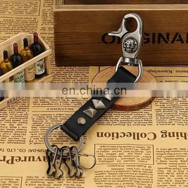 Latest high quality metal keychain leather 3d keychain