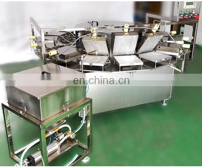 Commercial semi automatic snack crispy egg roll making machine/ rolled ice cream cone maker