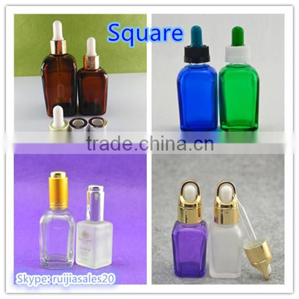 Trade Assurance! wholesale small fancy 30ml essential oil amber glass dropper bottles for cosmetic packaging