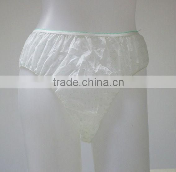 beautiful images sexy in china disposable non-woven woman panties for spa, patient