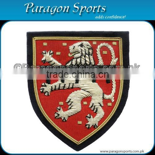 Handmade Bullion Embroidered Uniform Blazer Badge PS-118