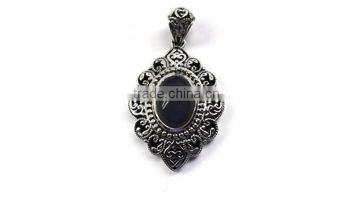 925 Sterling Silver Gemstone Pendant Single Stone Pendant