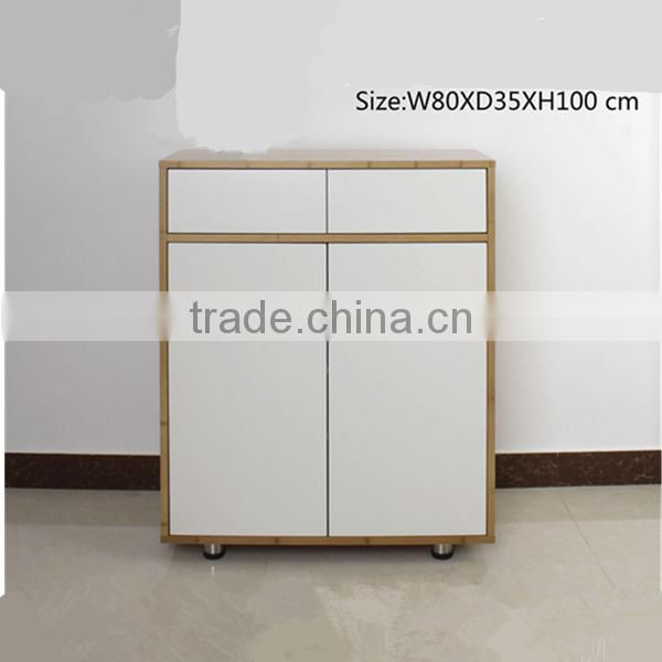 Durable bamboo shoe storage cabinet furniutre design