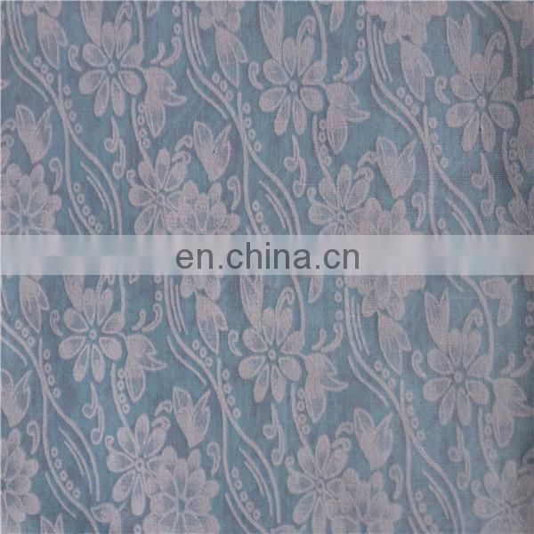 polyester cotton burnout fabric/t/c burnout fabric/printed burnt out