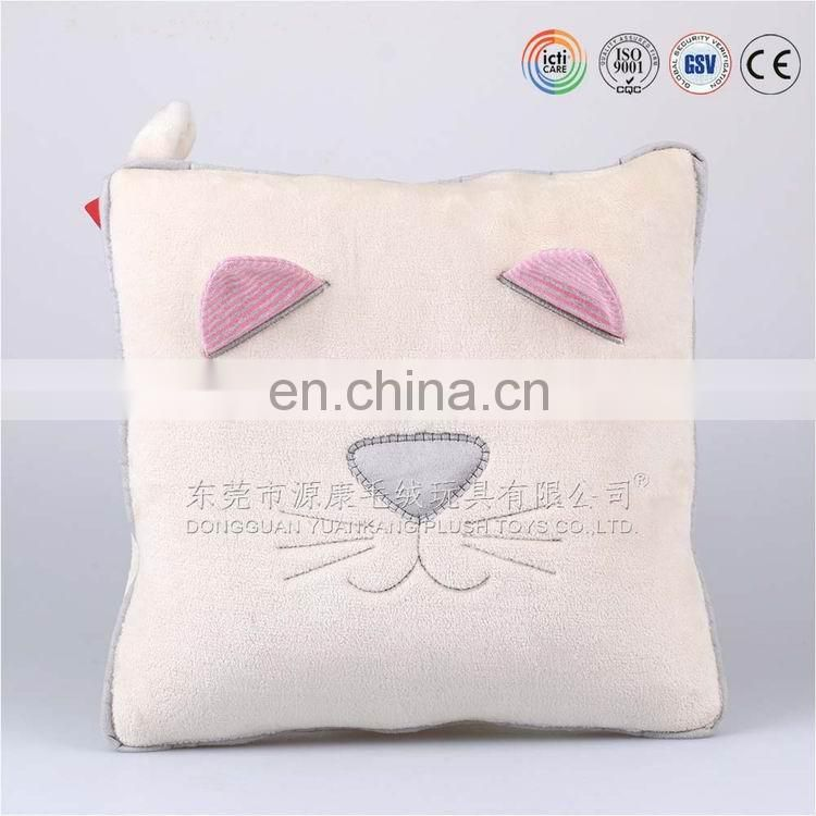 Professional and environmental ODM OEM factory cute and soft cat pillow