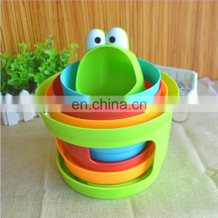 Cartoon plastic stacking toys educational baby game