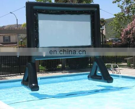 hot sell inflatable movie screen theater for swimming pool