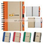 spiral cheap recycled notebook with paper ball pen