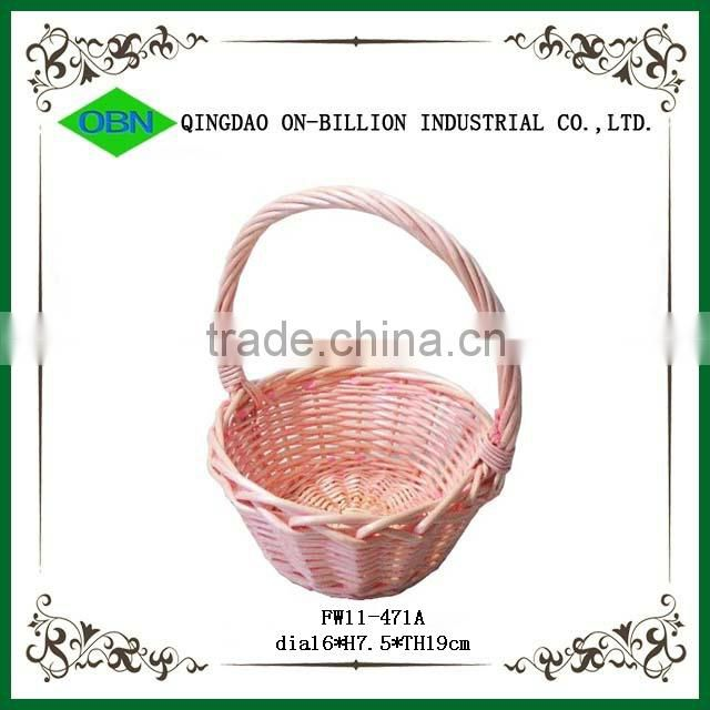 Handwoven wicker chinese girl basket wedding