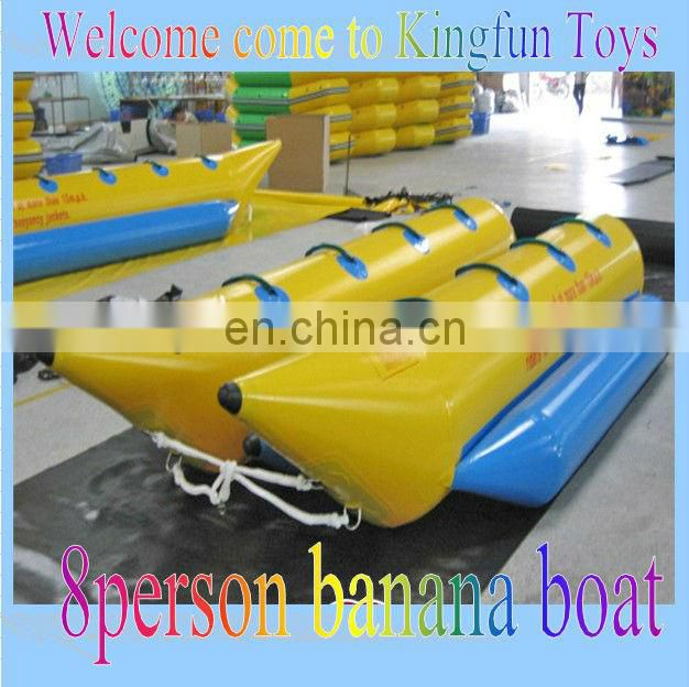 Exciting inflatable water sport boat