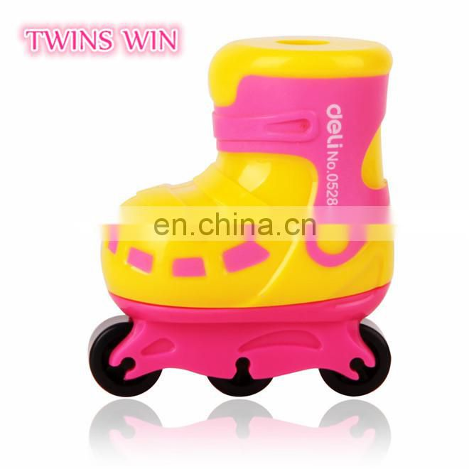 chinese cheapest stationery wholesale 2018 alibaba hotsale cartoon cute Roller skates shaped mini pencil sharpeners for children