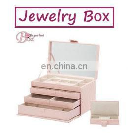 High Quality Luxury Pink Jewelry Packaging Box for Girlfriend