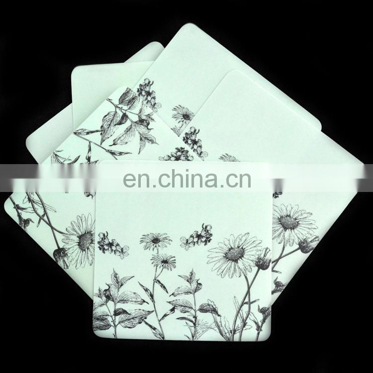 OEM design printed clear plastic custom cup coaster pad