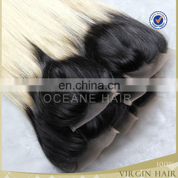 Brazilian remy hair top hair closure piece