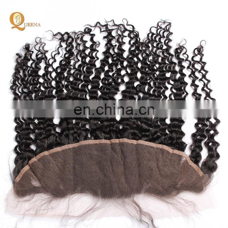 Chinese Wholesale Distributors Frontal With Baby Hair and 3 Bundles Ear To Ear Lace Frontal Closure Curly