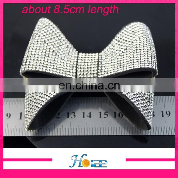 fashion cheap shoe flower rhinestone bowknot decoration