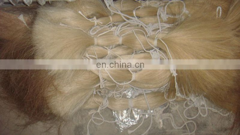 High quality loose chestnut horse hair bundles / sorrel color horse tail hair