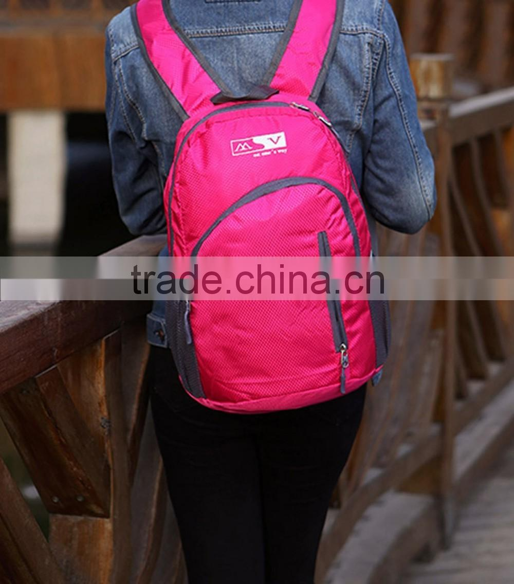 Small Hiking Backpack Lightweight Travel Backpack Packable Backpack Casual Daypack Backpacks for Women Men Hot Pink