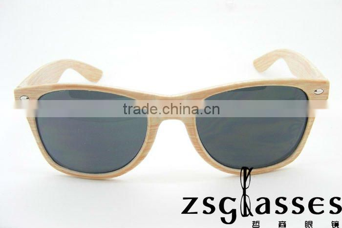 2012 Fashion Promotion Sunglasses With Wood grain Style