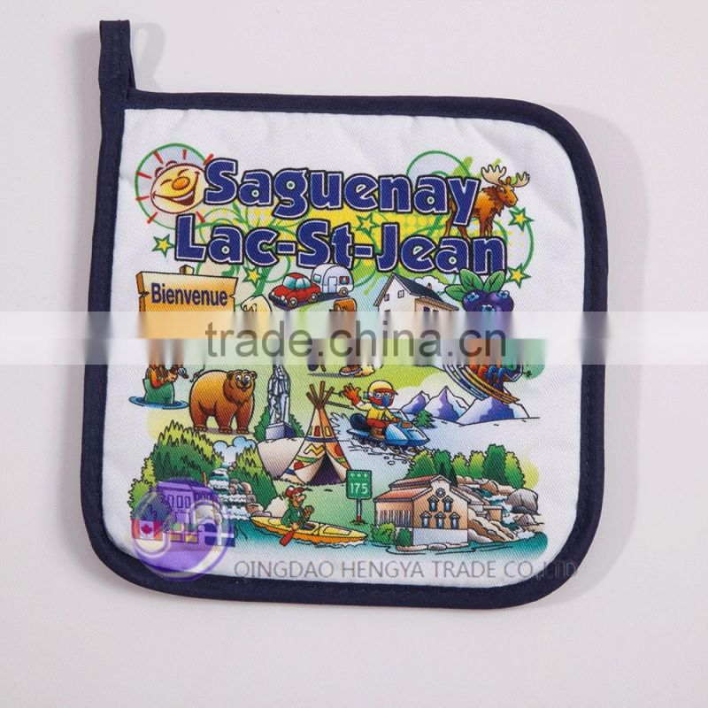 Custom digital printed cotton cheap pot holder