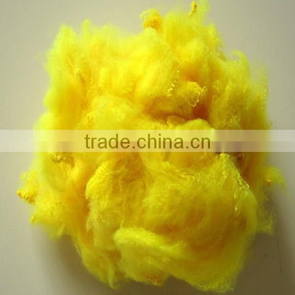 Hot sale 3D*64mm three-dimensional Colored 100% polyester material recycled polyester fiber