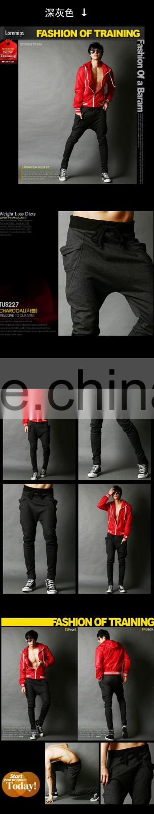 New Fashion Sweatpants Trousers Latest Design Men Harem Pants Sport Pants , Big Pocket Design Cargo Men Joggers