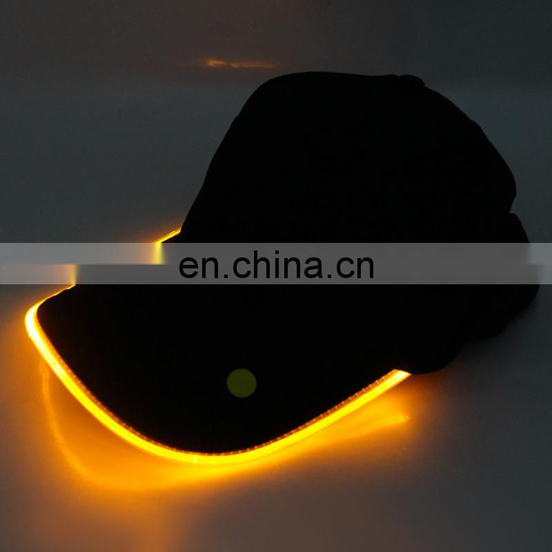 New arrival flashing caps led cap light glow cap flashing