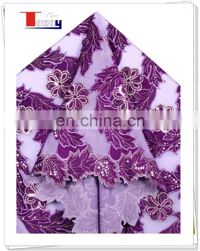2013 latest wholesales double organza fabric with many paillettes