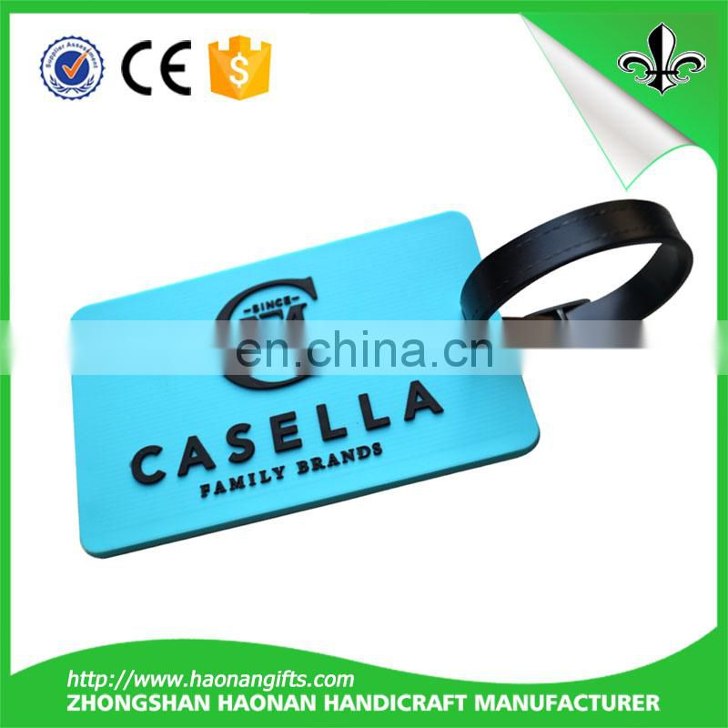 2017 New Hot Product Custom PVC Luggage Tag for passport holder