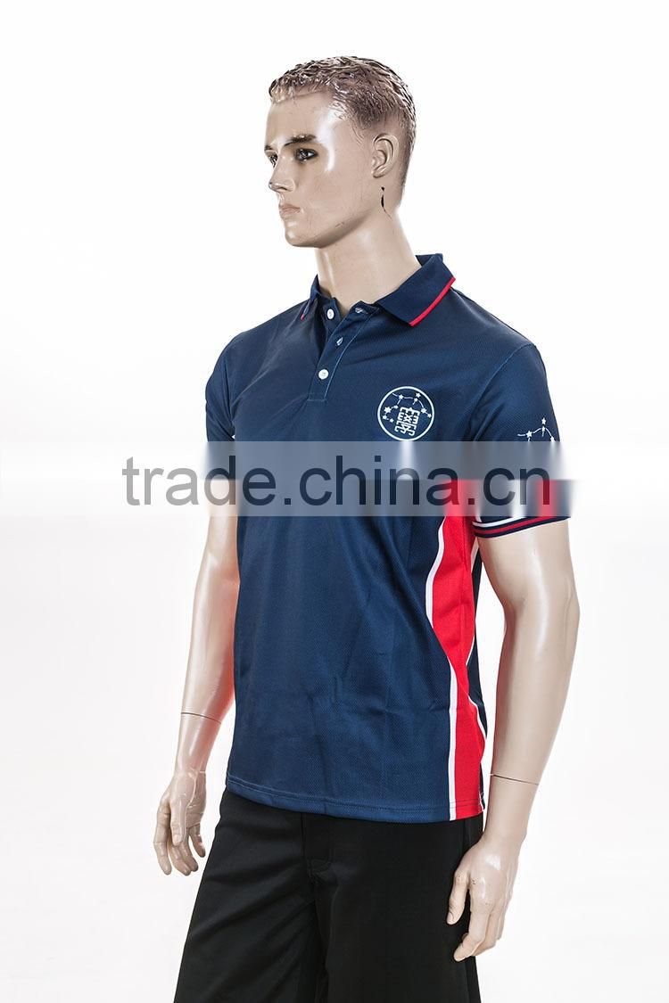 trade assurance 100 polyster mesh fabric sublimation polo club t shirts