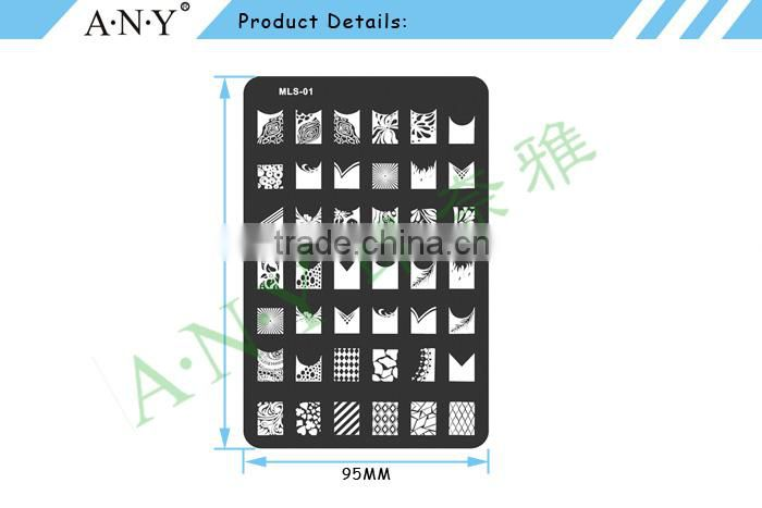 Nail Beauty Design Care Stainless Metal Konad Stamping Nail Art Plates