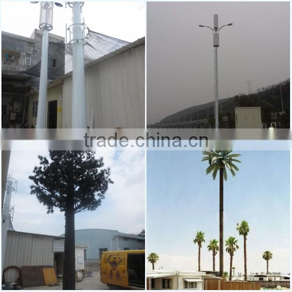 China wholesale manufacturer make new style microwave mobile telecom mobile monopole imitated date palm tree communication tower