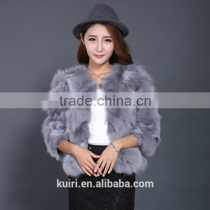 fashion show style rex rabbit Fur Coat Women very Long rex rabbit fur jacket winter fur big size