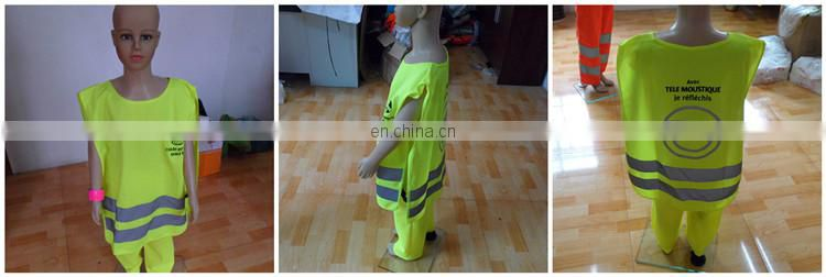 OEM design green running reflective security kid vest