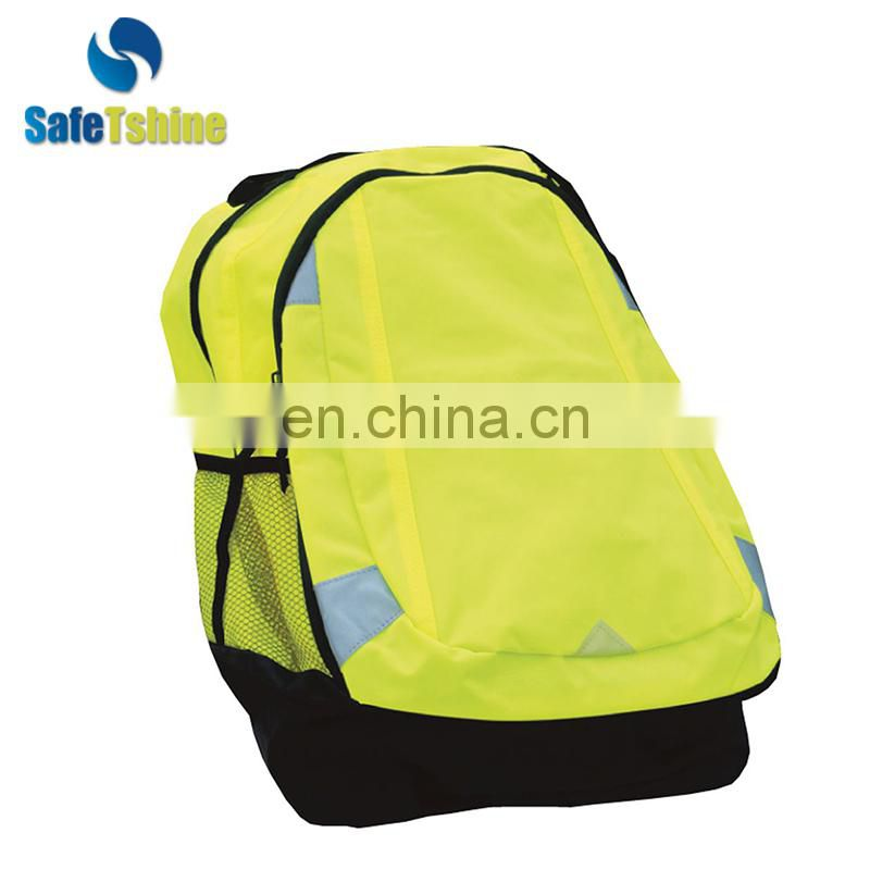 canvas wholesale high quality reflectivesafety reflectivec casual limbing backpack
