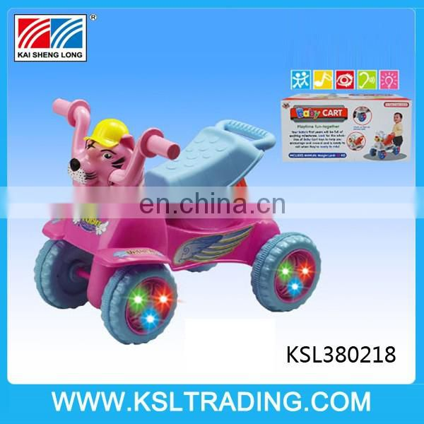 Nice design outdoor plastic walker baby with light and music