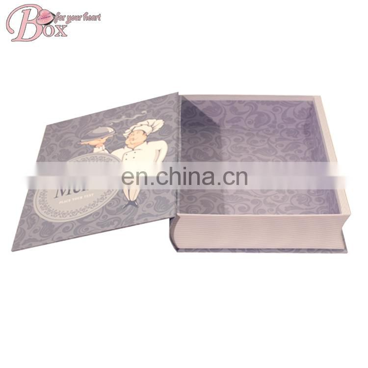High Quality Cartoon GIft Packaging Box of Book Shape