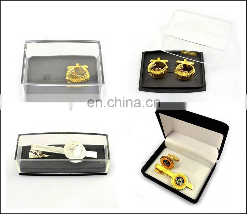 Wholesale cheap metal cufflink and tie pin set