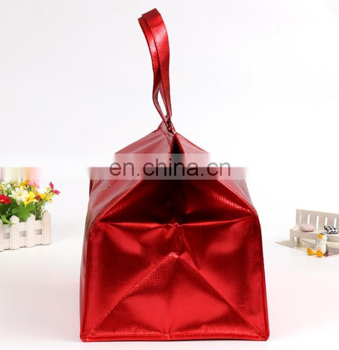 nice red foil cooler bag