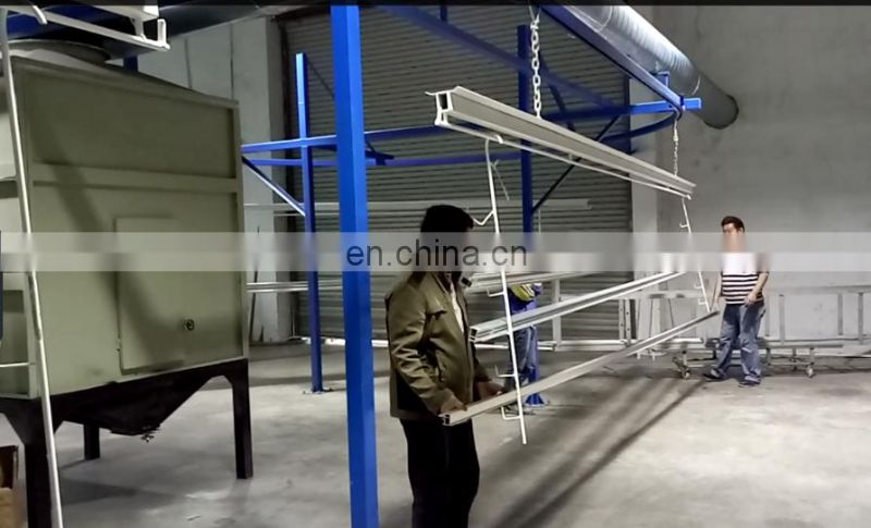 Electrostatic powder coating equipments for wood grain aluminum profile