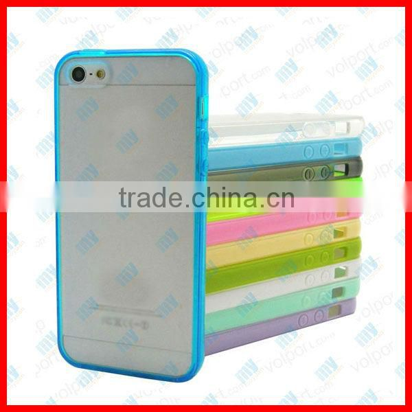 hot item dual color tpu +pc mobile phone case for iphone 5