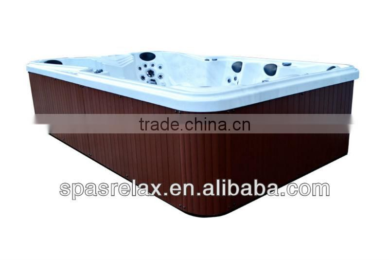 SPA-018G best price outdoor bathtub for 8 to 10 people use/outdoor jakkuzzy ---(A870)