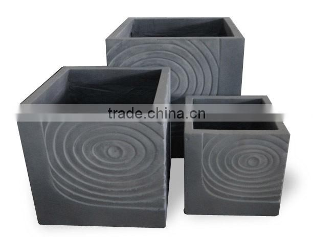 New designs for light cement planters, New design round light cement planter,Glossy Light Cement Planters/light weight cement