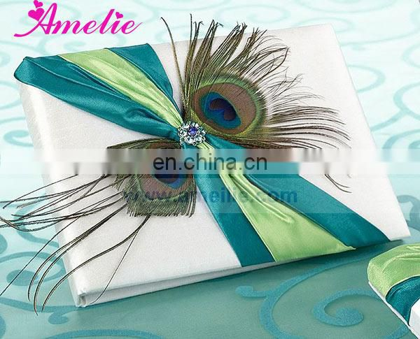 Peacock Collection Wedding Guest Book