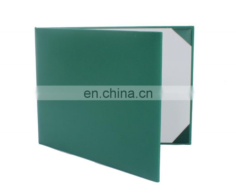 High quality Emerald Green Leatherette Diploma Ceritificate Cover Without logo