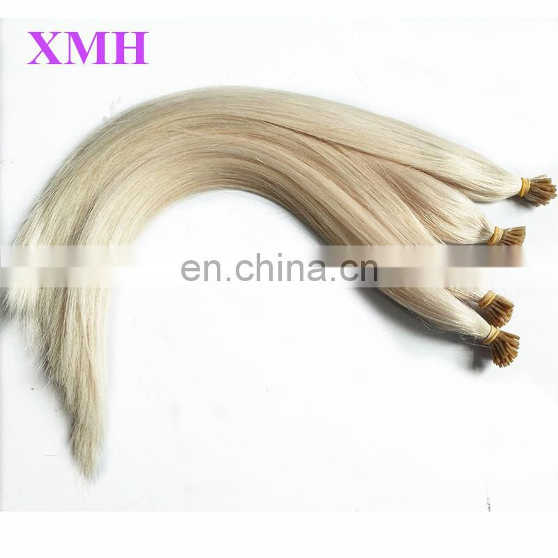 keratin fusion tip 100% remy human hair extension, remy i tip keratin human hair extension, stick tip hair